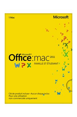 logiciel microsoft office mac 2011 famille etudiant office mac 2011 1377949. Black Bedroom Furniture Sets. Home Design Ideas