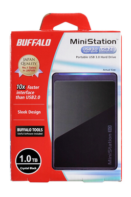 Buffalo MiniStation 1 To USB 3.0 / USB 2.0 Noir