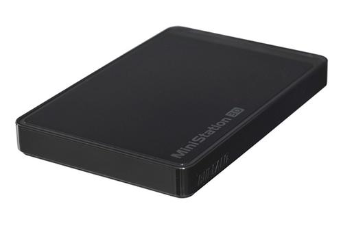 Buffalo MiniStation 500 Go USB 3.0 / USB 2.0 Noir