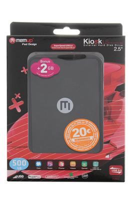 Memup KIOSK LS MINI SERIES 500 Go USB 3.0 / 2.0 NOIR