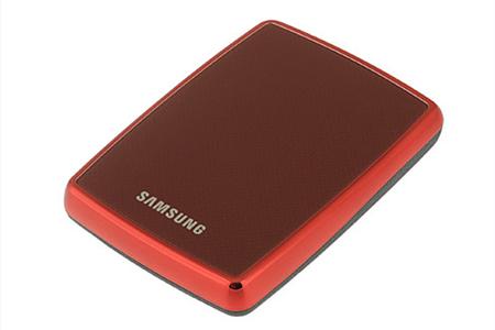 disque dur externe samsung s2 1 to usb 2 0 rouge dd2 5. Black Bedroom Furniture Sets. Home Design Ideas