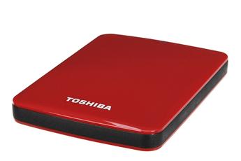 "Disque dur externe STOR.E Canvio 2.5"" 500 Go USB 3.0 Rouge Toshiba"