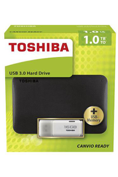 Disque dur externe PACK DD2,5 1TB+CLE16 Toshiba