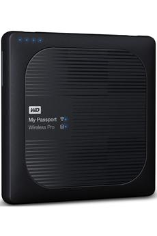 Disque dur Wifi ac - 2To Lecteur de carte SD 3.0 pour télécharger rapidement les fichiers multimédias Batterie capable de tenir toute la journée (jusqu'à 10 heures) Chargeur nomade USB pour recharger des appareils mobiles