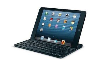 Clavier pour tablette Etui clavier ultra-fin noir pour iPad Mini Logitech