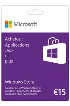 Logiciel Carte Windows Store 15€ Microsoft