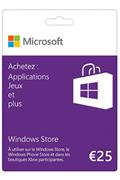 Microsoft Carte Windows Store 25€