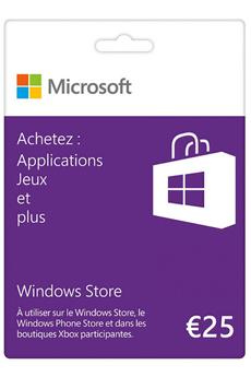 Logiciel Carte Windows Store 25€ Microsoft