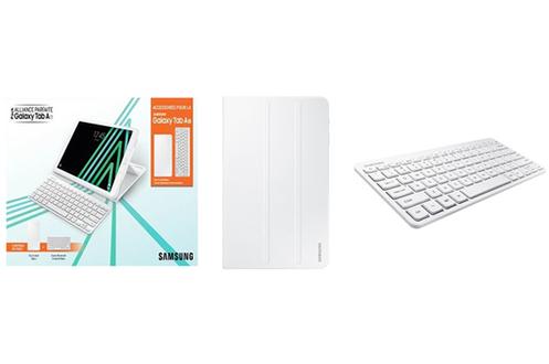Autres accessoires pour tablette Samsung Etui à rabat + clavier Bluetooth blanc pour Samsung Galaxy Tab A 10,1