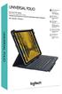Logitech Étui avec clavier intégré Logitech Universel Folio Gris pour Tablettes 9-10 photo 3