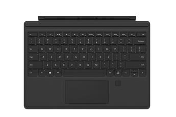 Clavier pour tablette Clavier AZERTY Type Cover noir pour Surface Pro 4 avec lecteur d'empreinte Microsoft