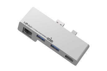 Connectique et adaptateur pour tablette Hub USB 3.0 2 USB 3.0 + 1 RJ45 + 1 Display Port pour Microsoft Surface Pro 4 Bidul