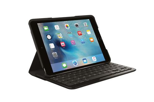 Etui-clavier Focus noir Pour iPad mini 4 Raccourcis clavier iOS intégrés Batterie rechargeable intégrée