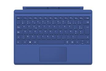 Connectique et adaptateur pour tablette Clavier AZERTY Type Cover bleu pour Surface Pro 4 Microsoft