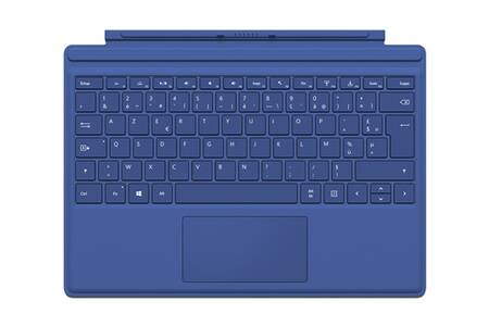 clavier pour tablette microsoft clavier azerty type cover bleu pour surface pro 4 darty. Black Bedroom Furniture Sets. Home Design Ideas
