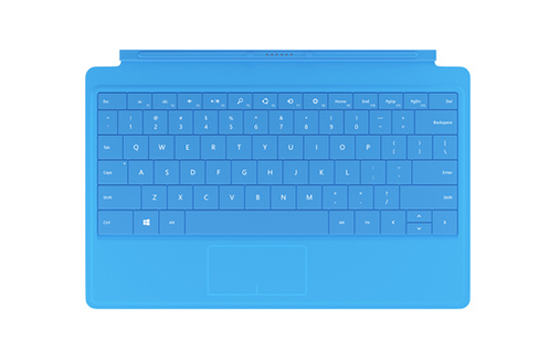 Clavier AZERTY Type Cover cyan pour Surface Pro 4
