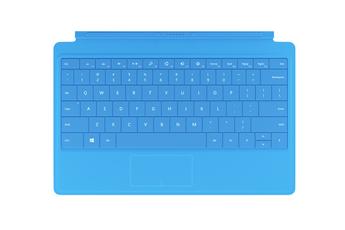 Clavier pour tablette Clavier AZERTY Type Cover cyan pour Surface Pro 4 Microsoft