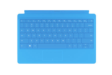 clavier pour tablette microsoft clavier azerty type cover cyan pour surface pro 4 darty. Black Bedroom Furniture Sets. Home Design Ideas