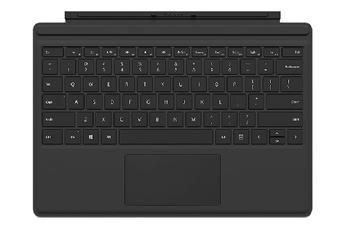 Connectique et adaptateur pour tablette Clavier AZERTY Type Cover noir pour Surface Pro 4 Microsoft