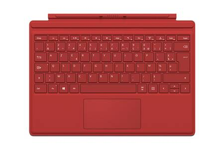 clavier pour tablette microsoft clavier azerty type cover rouge pour surface pro 4 darty. Black Bedroom Furniture Sets. Home Design Ideas