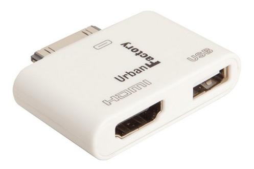 connectique et adaptateur pour tablette urban factory adaptateur hdmi usb pour ipad ipod. Black Bedroom Furniture Sets. Home Design Ideas
