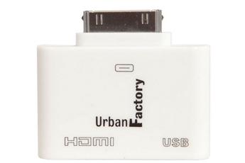 Autres accessoires pour tablette Adaptateur HDMI/USB pour IPAD/IPOD Urban Factory