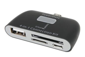Connectique et adaptateur pour tablette Lecteur de carte 4 en 1 Micro USB Urban Factory