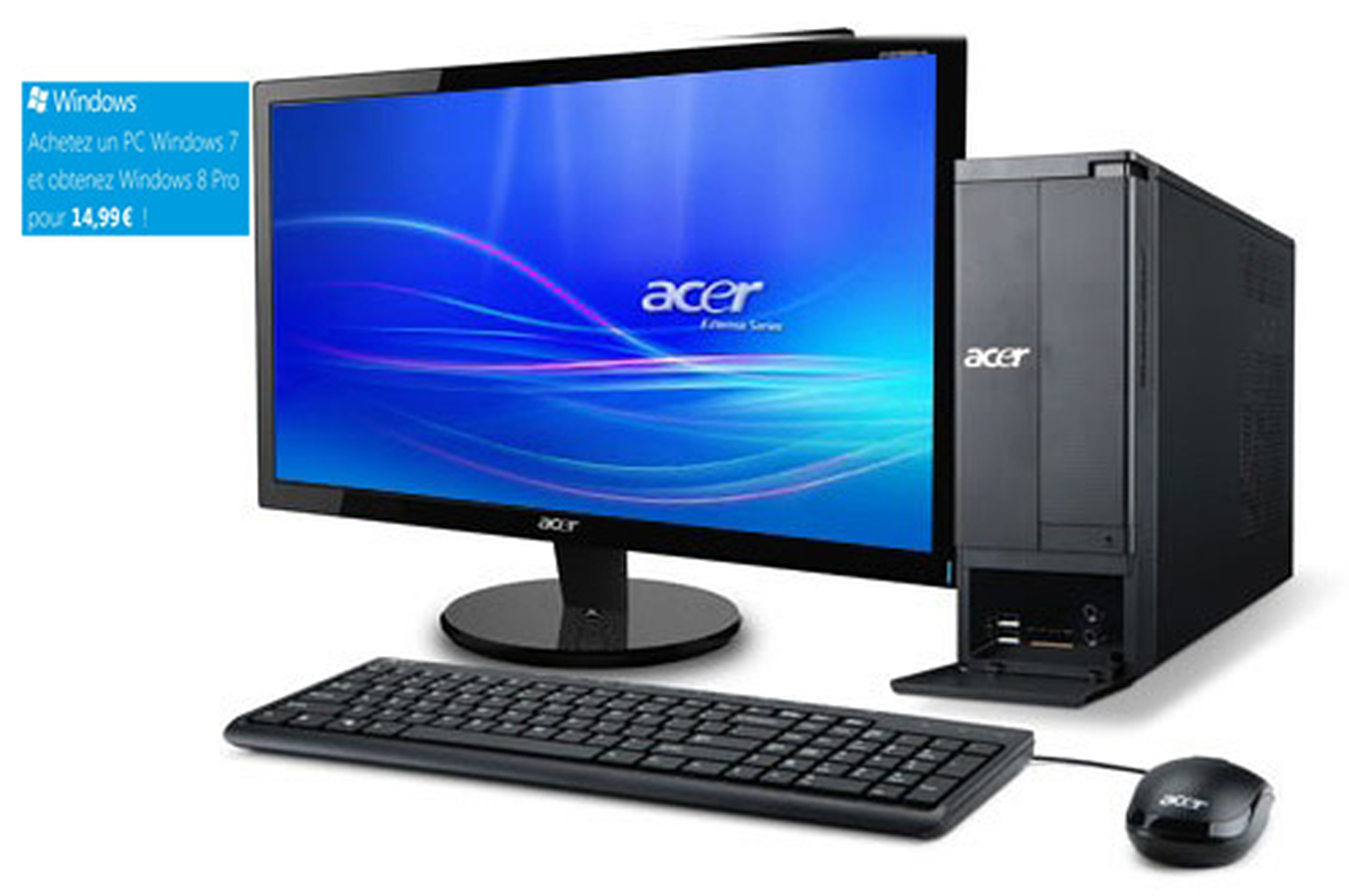 pack pc de bureau acer x1430 ob 20 office 3633411. Black Bedroom Furniture Sets. Home Design Ideas