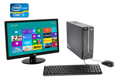 Pc de bureau acer aspire xc600 014 aspirexc600 014 darty - Que choisir ordinateur de bureau ...