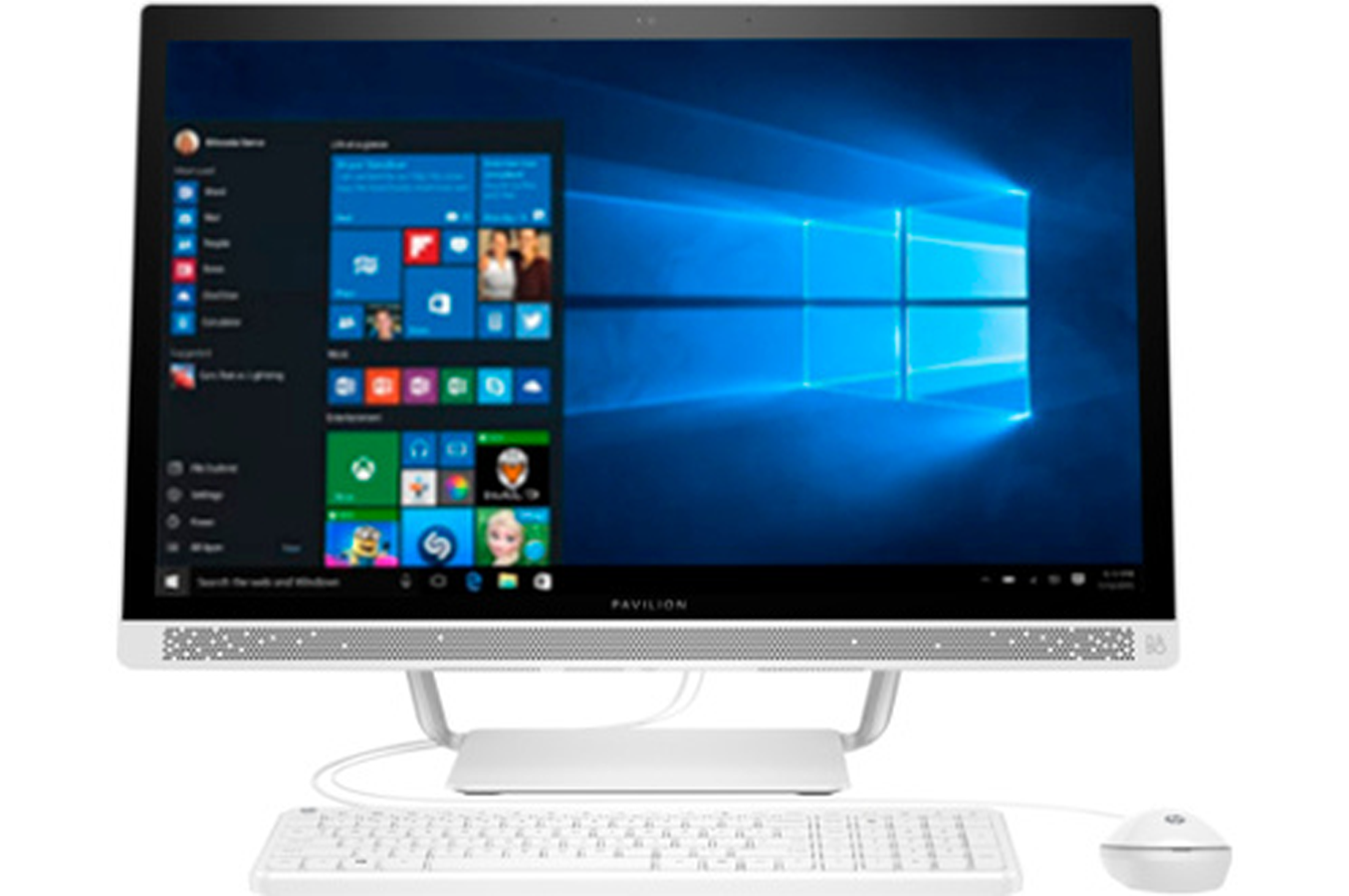 Pc de bureau hp pavilion 27 a101nf 4283350 darty - Darty informatique pc bureau ...
