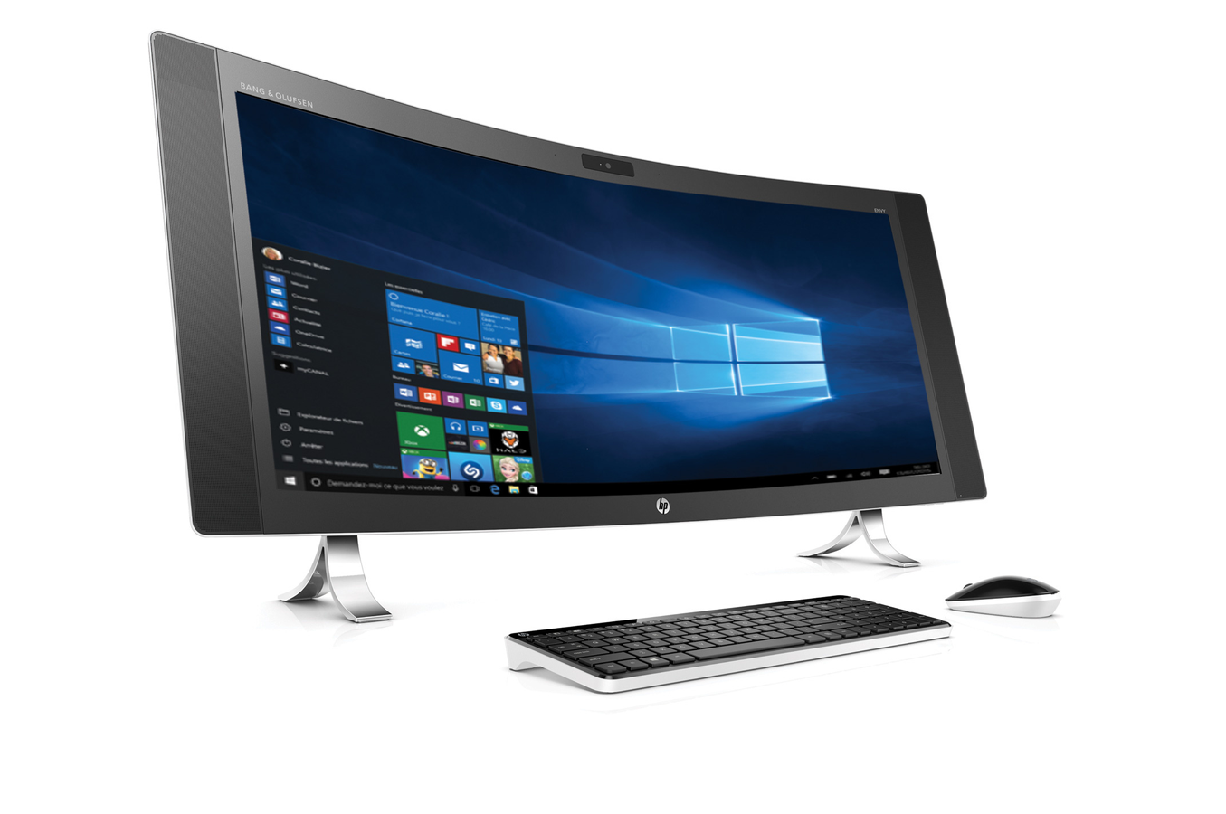 hp envy curved 34 a090nf ordinateur de bureau ordinateurpascher
