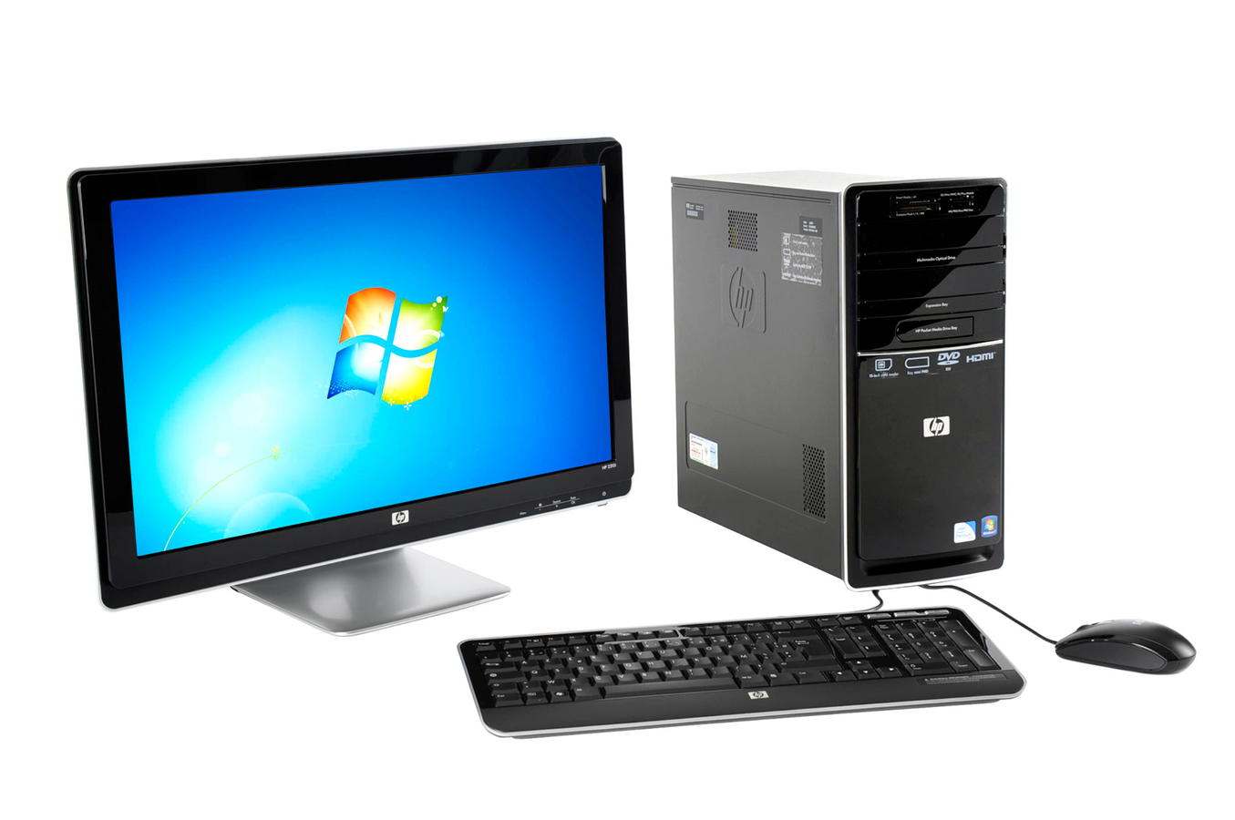 Pc de bureau hp p6356fr 23 p6356fr 3190021 darty - Darty informatique pc bureau ...