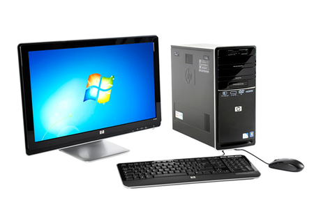 Pc de bureau hp p6356fr 23 p6356fr darty - Ordinateur de bureau windows 7 pro ...