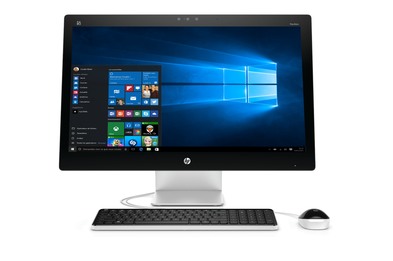 Pc de bureau hp pavilion 27 n205nf 4217454 darty - Ordinateur de bureau windows 7 pro ...