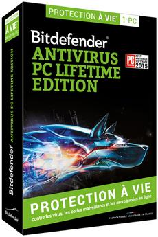 Logiciel Antivirus pc lifetime édition Bitdefender