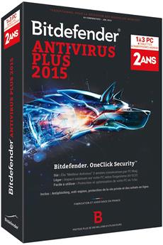 Logiciel Bitdefender Antivirus Plus 2015 2 Ans 3 Postes Bitdefender