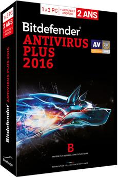 Logiciel Bitdefender Antivirus Plus 2016 2 ans 3 Postes Bitdefender