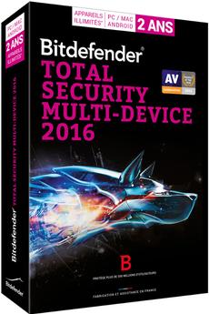 Logiciel Bitdefender Total Security Multi Device 2 ans 3 postes Bitdefender