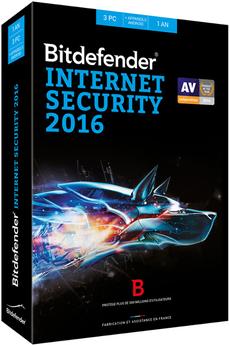 Logiciel Bitdefender Internet Security 1 an 3 postes Bitdefender