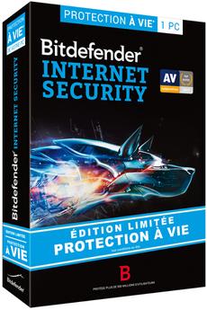 Logiciel INTERNET SECURITY A VIE 1PC Bitdefender