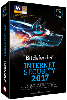 Logiciel Internet Security 2017 1 an 5 postes Bitdefender