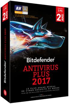 Logiciel Antivirus Plus 2017 2 ans 3 Postes Bitdefender