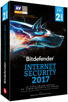 Logiciel Internet Security 2 an 5 postes Bitdefender