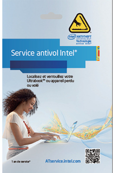 Logiciel ANTI-THEFT SERVICE Anti-Vol 1 an Intel