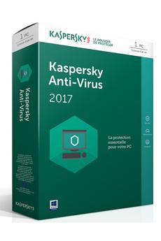 Logiciel Kaspersky Antivirus 2017 1 Poste / 1 An Kaspersky