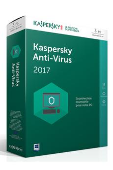 Logiciel Kaspersky Antivirus 2017 3 Postes / 1 An Kaspersky