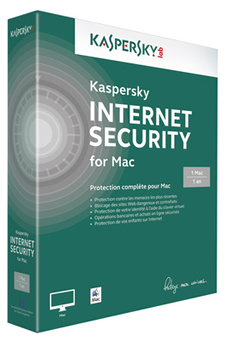 Logiciel INTERNET SECURITY 2014 MAC 1P/1AN Kaspersky