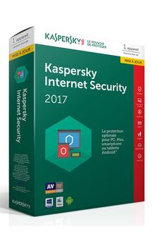 Logiciel Internet Security 2017 1 Poste / 1 An Mise à jour Kaspersky