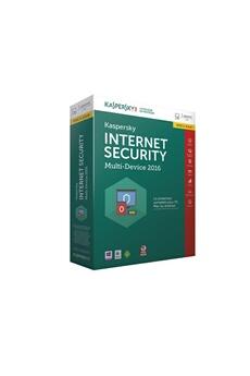 Logiciel Internet Security 2016 1 Poste / 1 An Mise à jour Kaspersky
