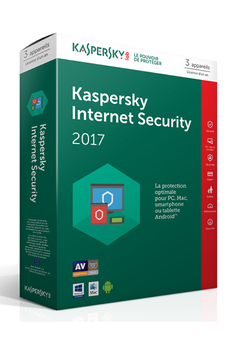 Logiciel Kaspersky Internet Security 2017 3 Postes / 1 An Kaspersky